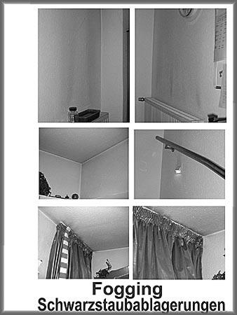 Objektbearbeitung hinsichtlich Fogging (Schwarzstaubablagerungen) in Wohnungen